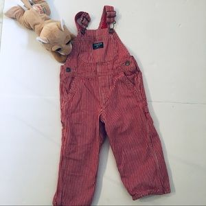 Red and White Osh Kosh Overalls